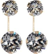 Candela 10K Yellow Gold Front to Back Double Round CZ Earrings