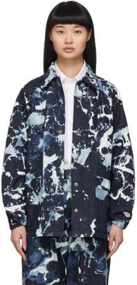 Blue Blue Japan Indigo Denim Kago Bassen Coach Jacket