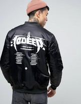 10 Deep Bomber Jacket With Tour Back Print