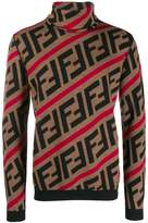 Fendi FF motif turtleneck jumper