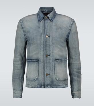 Saint Laurent Slim-fit denim jacket