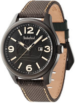 Timberland Men's New Market Brown Nylon Strap Watch 45x55mm TBL14476JSB02