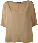 Piazza Sempione curved hem top - women - Silk/Acetate - 38