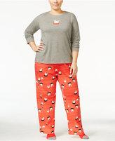 Hue Plus Size Knit Pajama Set with Socks