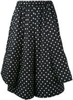 Comme des Garcons polka dot cropped trousers - women - Polyester - S