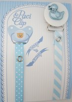 Blue Duck Crystal Dream Ribbon Pacifier Clip