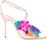 Sophia Webster floral metallic sandals