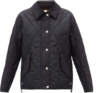 Burberry Lavenham Diamond-quilted Shell Jacket - Black