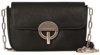 Vanessa Bruno Smooth Calfskin Leather Moon Flap Bag