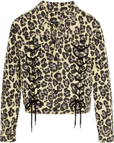 Sibling Leopard-print denim jacket