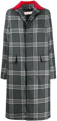 Marni multi-print button-up long coat