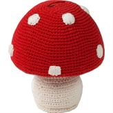Hand-Knit Stuffed Mushroom Bank by Anne-Claire Petit