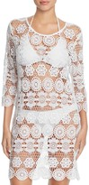 J Valdi Crochet Medallion Tunic Cover-Up