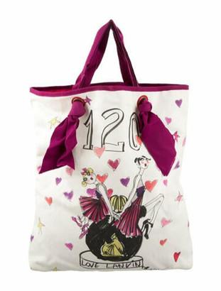 Lanvin Canvas Tote Bag w/ Tags Brass