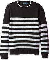 Nautica Men's Long Sleeve Stripe Crewneck Sweater