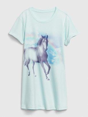 Gap Kids Unicorn T-Shirt PJ Dress