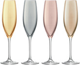 LSA International Polka Assorted Champagne Flutes - Set of 4 - Metallic