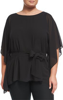 MICHAEL Michael Kors Boat-Neck Belted Tunic, Plus Size