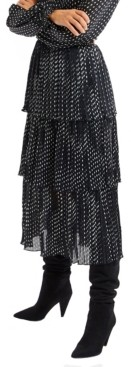 Allison New York Women's Paint Dot Pleated Midi Skirt