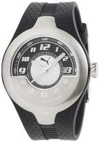 Puma Men's MOTOR PU101781001 Black Polyurethane Quartz Watch with Black Dial