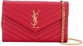Saint Laurent monogram envelope bag - women - Calf Leather - One Size