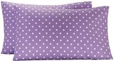 Dottie Pillowcases, Set of Two, Standard, Purple