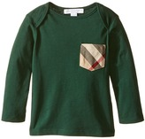 Burberry Callum Checked Pocket Long Sleeve Top Boy's Long Sleeve Pullover