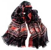 Black Chamba Himalayan Cashmere and Wool Scarf