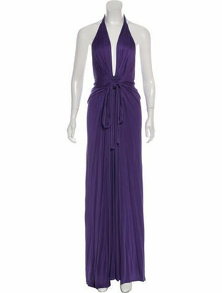 Issa Silk Maxi Dress Violet