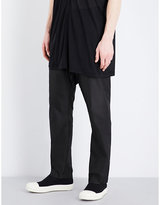 Rick Owens Dropped-crotch Silk Drawstring Trousers