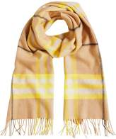 Burberry cashmere classic check scarf