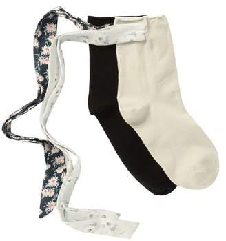 Me Moi MEMOI Bonny Ribbon Anklet Socks - Pack of 2