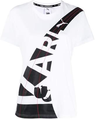 Karl Lagerfeld Paris x Puma double logo T-shirt