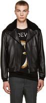 Acne Studios Black Shearling Avone Jacket