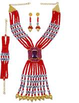 jewelry-sets Banithani Indian Ethnic Rani Haar Necklace Set Designer Strand Beaded Bollywood Jewelry