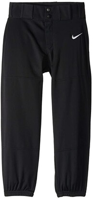 Nike Kids Core Elastic Baseball Pants (Big Kids) (Black/White) Boy's Casual Pants
