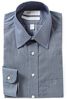 Roundtree & Yorke Gold Label Non-Iron Striped Dobby Classic Fitted Point-Collar Dress Shirt