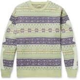 Thumbnail for your product : KAPITAL Intarsia Fair Isle Wool-Blend Sweater