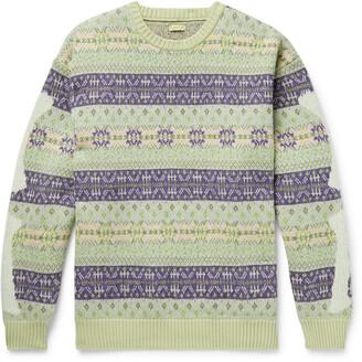 KAPITAL Intarsia Fair Isle Wool-Blend Sweater