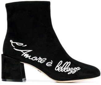 Dolce & Gabbana embroidered ankle boots