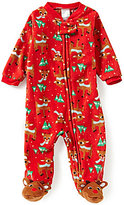 Baby Starters 3-9 Months Christmas Rudolph-Print Footed Coverall