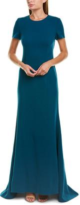 Oscar de la Renta Wool-Blend Gown