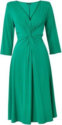 Evans **Scarlett & Jo Turquoise Blue Knot Jersey Dress
