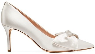 Kate Spade Strudel Bow Satin Pumps