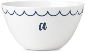 Lenox Navy Scallop Monogram All-Purpose Bowl