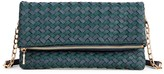 Sole Society Marlee Woven Foldover Clutch