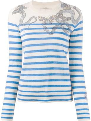 Zadig & Voltaire Miss embellished mariner jumper