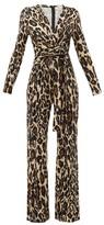 Diane von Furstenberg Melinda Leopard-print Silk-jersey Jumpsuit - Womens - Animal