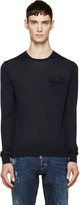 DSQUARED2 Navy Knit Pocket Sweater