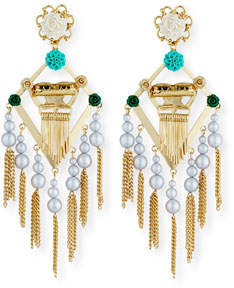 Dannijo King Statement Earrings